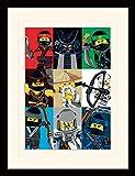 1art1 107232 The Lego Ninjago Movie - Charaktere, Sensei Wu, Garmadon Gerahmtes Poster Für Fans Und Sammler 40 x 30 cm