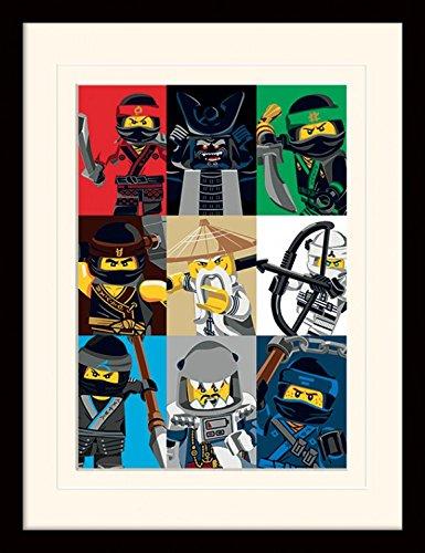 Preisvergleich Produktbild 1art1 107232 The Lego Ninjago Movie - Charaktere, Sensei Wu, Garmadon Gerahmtes Poster Für Fans Und Sammler 40 x 30 cm