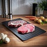 Küchenbrett mit Auftaufunktion, Schnell Abtau Fach Brett (ohne Strom) Auftauen Fleisch oder Tiefkühlkost Küchentablett, Küchen Auftaubrett Werkzeug By Upxiang