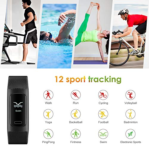 515RO6O3DRL. SS500  - 4UMOR Fitness Tracker, Activity Tracker Smart Watch Heart Rate Monitor, Sleep Monitor, Step Counter, Calorie Counter, IP68 Waterproof Slim Pedometer Smart Wristband for Men, Women, Kids
