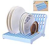 #10: Inovera Foldable Dish Plate Drying Stand Holder Drainer Rack Organiser, Assorted Colour
