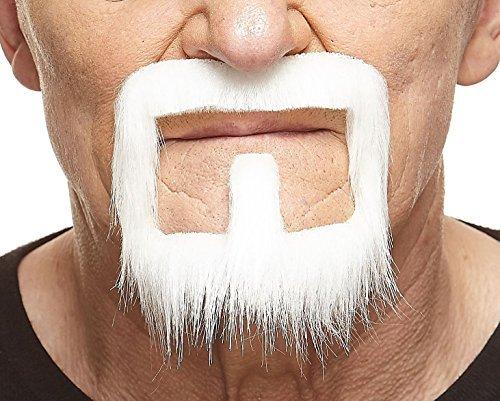 (Mustaches Weißer Henriquatrer fälschen, selbstklebend Bart)