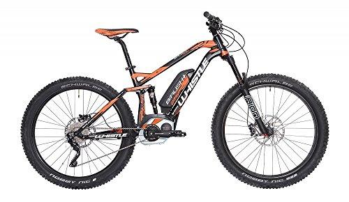 """Mountain Bike elettrica eBike Whistle B-RUSH Plus motore Bosch CX Cruise 400 Wh Purion 10 velocità colore nero/arancio misura M 18\"""" (170 - 185 cm)"""