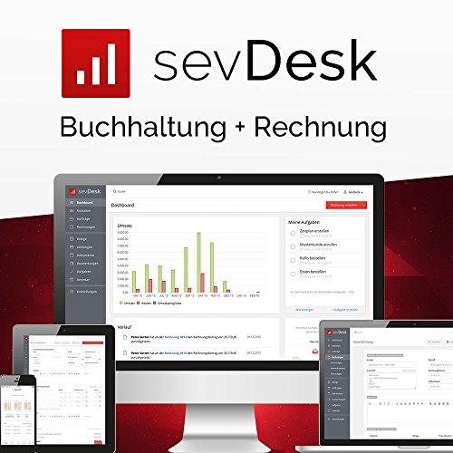 sevDesk Buchhaltung + Rechnung - 1 Jahreslizenz- Online- Buchhaltungssoftware & Rechnungsprogramm (Cloud Lösung)