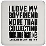Designsify Girlfriend, die ich Liebe Meinen Freund, Untersetzer mit mehr als Diese Miniatur-Figuren–er, mit Untersetzern, MDF Coaster, Geschenk für Mädchen, Frauen, Dame, GF-Freund