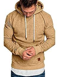 Sudadera para Hombre,Hombres de Manga Larga otoño Invierno Casual Sudadera Camisas Blusa Top chándales