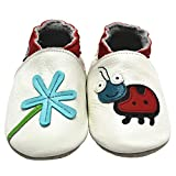 Mejale Baby Shoes Soft Soled Leather Moccasins Ant Infant Toddler Pre-Walker(3-6 Months