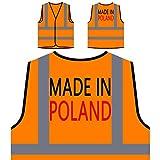 Made In Polen Lustige Neuheit Neu Personalisierte High Visibility Orange Sicherheitsjacke Weste i10vo