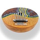 ART-CRAFT MH002 Kalimba Daumenklavier Percussion Instrument aus Kokosnuss und Holz extra groß
