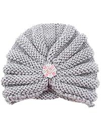 8af420c6da69 Bonnet Bébé, Mamum Enfants bébé filles tricot chapeau bonnet turban tête Wrap  Cap ...
