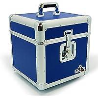 """Gorilla 12""""LP discos de vinilo caja almacenamiento vuelo caso azul mantiene 100pcs Inc garantía de por vida"""