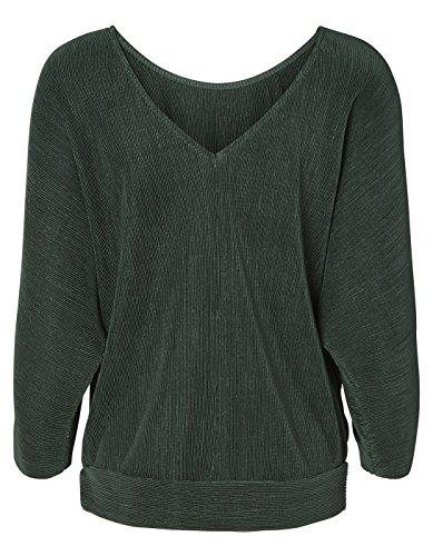 Back neckline t-shirt VMPLEATY by Vero Moda green
