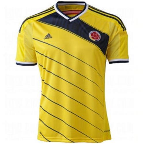 adidas Kolumbien Jungen Heimtrikot Trikot WM 2014 Camiseta de la selección Colombiana Colombia Soccer Jersey (XL) - Kolumbien Fußball Adidas