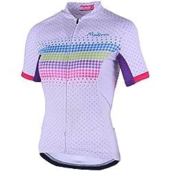 Yiiquan Mujeres Respirable de Manga Corta de Ciclismo Ropa Maillot Cycling Top Jersey para Bici (Style#4, Asia 2XL)