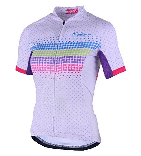 Yiiquan Mujeres Respirable de Manga Corta de Ciclismo Ropa Maillot Cycling Top Jersey para Bici (Style#4, Asia M)
