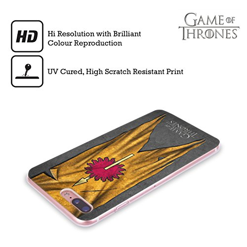Offizielle HBO Game Of Thrones Lannister Sigil Flags Soft Gel Hülle für Apple iPhone 6 / 6s Martell