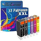 PlatinumSerie® 12 Patronen kompatibel für Canon Pixma TS8100Series TS8150 TS8151 TS8152 TS8240 TS8241 TS8242 TS8250 TS8251 TS8252 TS9100Series TS9150 TS9155 PGI-580 XL & CLI-581 XL