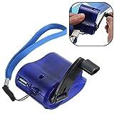 GEZICHTA Tragbares Notfall hand-cranking Dynamo Electric Ladegerät Generator USB Ladegerät für Handy/MP4Camping Wandern Travel Blue
