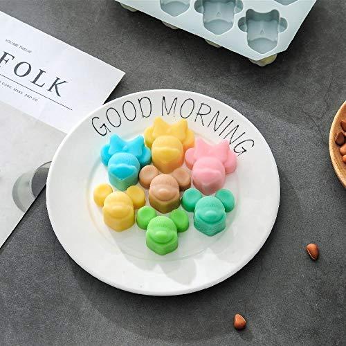 SULUO Silikon Mickey Mouse Mold Cutter 3D Cookie Schokolade DIY Fondant Kuchen Dekoration Backen Werkzeug, Beige