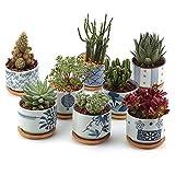 T4U 7.5CM Set of 8 Stile Giapponese Seriale Ceramica Vaso di Fiori Pianta Succulente Cactus Vaso di Fiori Giardino i vasi di Fiori vasi di Piante.
