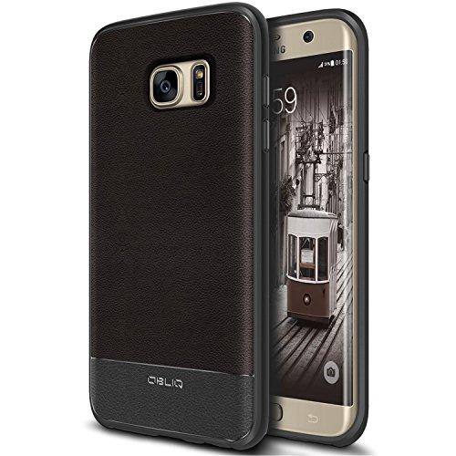 Galaxy S7 Edge Case, OBLIQ [Flex Pro][Espresso] Premium PU Leather Slim Fit Form Fitting Heavy Duty Protective Cover for Galaxy S7 Edge(2016)