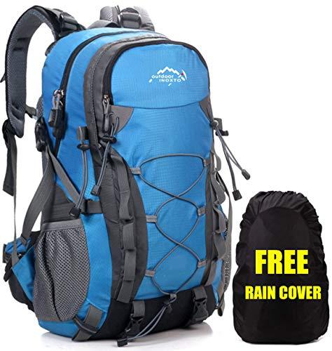 """Netchain Wasserdichter Rucksack 40L Leicht, Erwachsene Wanderrucksack Männer Frauen Outdoor Rucksack für Klettern Camping Reiten Reisen Freizeit, für 15.6\"""" Laptop Blau"""