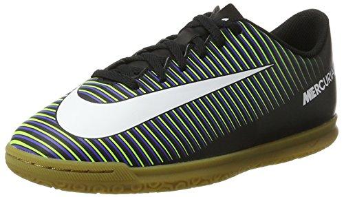 info for 05a51 78127 Nike Unisex-Kinder Mercurial Vortex III IC Fußballschuhe, Schwarz  (Black/WHT-