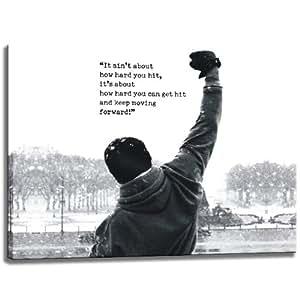 Rocky spruch zitatmotiv auf leinwand im format 80x60 cm - Spruch auf leinwand ...
