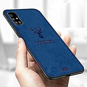 Designerz Hub® Spazy Case® Samsung Galaxy A51 Deer Series - Shockproof Anti Slip Soft Fabric Case with with Camera Protection Protective Back Case Cover for Samsung Galaxy A51 - (Blue)