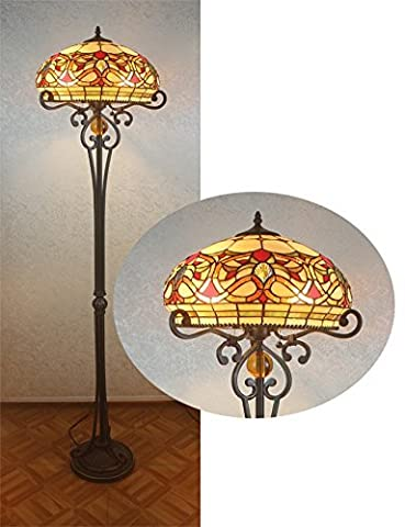 LIUYU Handcrafted Beautiful Style Stained Glass Floor Lamp