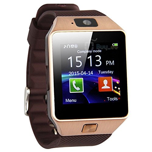 AmYin Bluetooth AndroidUhrTelefon mit Kamera D92G (Gold)