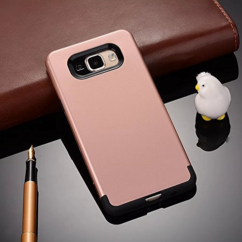 YHUISEN Galaxy A7 2016 Case, 2 In 1 PC + TPU Armor Hybrid Dual Layer Schutz Schock Absorption Hard Back Cover Fall für Samsung Galaxy A7 2016 A710 ( Color : Rose Gold ) Rose Gold