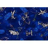 Home Life STW0495 - Alfombra con diseño star wars, 95 x 133  cm, color azul