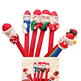 Keepwin 1 Stück Weihnachten Weihnachtsmann Aussehen Kugelschreiber, Cartoon blau Tinte Kreative Student Supplies (Mehrfarbig)