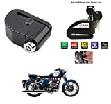 AutoStark-Security Alarm Disk Lock Motorbike Bike Scooter Loud Disc Brake Lock Security Anti-Theft Alarm For Royal Enfield Classic 350 /500CC /Thunderbird 350/500 AND ALL TYPE BIKES