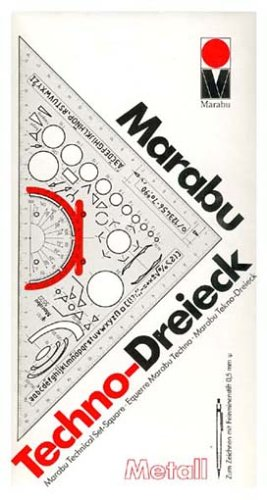 Marabuwerke 5522 80 000 - Dreieck Techno Plastik für Metallbau Marabu 5522
