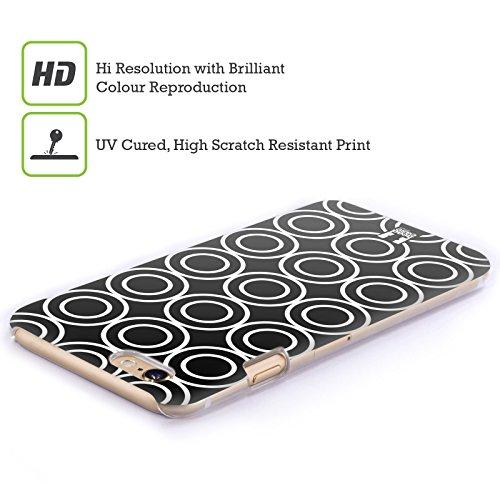 Head Case Designs Zebrato Patterni B&N Cover Retro Rigida per Apple iPhone 7 Plus / 8 Plus Cerchi Doppi