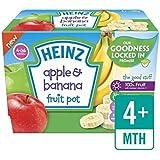 Heinz Pommes Et Bananes Pots De Fruits 4 X 100G
