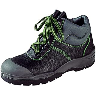 Asatex 39500 41 Safety Boots, S3, Size 7.5, Black/Green