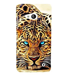 FUSON Blue Eye Tiger Painting 3D Hard Polycarbonate Designer Back Case Cover for Microsoft Lumia 550