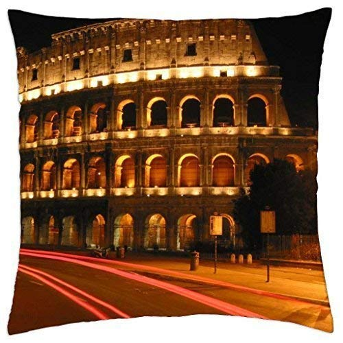 gthytjhv Colosseum Rome Italy Decorative Wurfkissenbezugs 18x18 Farmhouse Couch Kissenbezüge Gifts for Girls,for Women,for Mom -