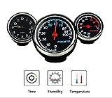 Fristee Uhr, Thermometer und Hygrometer für das Auto-Armaturenbrett