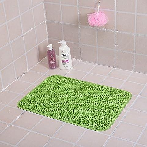 FQG* bagni Rutschfeste mate Fußmatte geheftet vasca di piedi e i bagni, rutschfeste stuoie pad, 45cm x 60 cm, di carni bovine Sehne grid pura di colore verde.