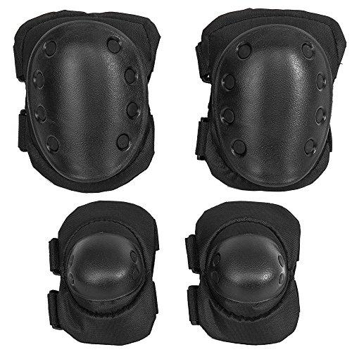 1Set Extreme Sport Body Schutz Guard Pad Knieschoner und Ellbogenschützer mit Handgelenkschoner für Fahrrad Motorrad Skateboard BMX RACING, 4PCS