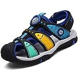 Pastaza enfant Bout Fermé Sandales de Marche RandonnéeTrail Été Beach Chaussures de Plage Sport Respirant Extérieur Casual Garçon, Noir 28