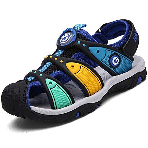 Pastaza Geschlossene Sandalen Sommer Strand Outdoor Sport Trekking Klettverschluss Schuhe Für Kinder Jungen Mädchen, Schwarz 29
