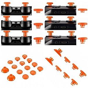 Thumbsticks tauschbar höhenverstellbar passend für PS4® Controller und Xbox® One Controller – orange