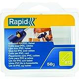 Rapid, 40107351, Bâtons de colle thermofusible, Pour PVC et câbles, Transparent, ø12mm, Longueur 94mm, 50g