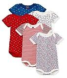 Petit Bateau Baby - Mädchen Formender Body MC_4795000, 5er Pack, Mehrfarbig (Variante 1 00), 98 (Herstellergröße: 36M/95cm)