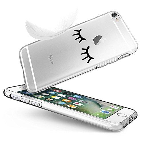 Qissy® Schutzhülle für iPhone 6 plus/6S plus Hülle Case TPU Schutzhülle Crystal Case Hülle Schlank Transparent Weicher Gel Silikon Handy Hülle Bunt Telefon Kasten Abdeckung Case Schutzhülle für iPhone 28